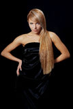 Fashion portrait of a beautiful blond young woman Royalty Free Stock Photo
