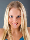 Fashion portrait of a beautiful blonde girl Royalty Free Stock Images