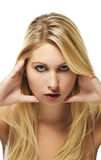 Fashion portrait of a beautiful blonde woman Royalty Free Stock Photography