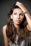 Fashion portrait of a beautiful brunette  woman Royalty Free Stock Photos