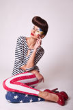 Fashion portrait beautiful girl Stock Photography