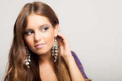 Fashion portrait of a beautiful girl Royalty Free Stock Photo