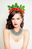 Fashion Portrait of Beautiful Girl Royalty Free Stock Image