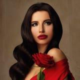 Fashion Portrait of Beautiful Model Stock Image