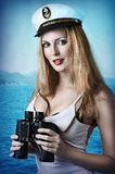 Fashion portrait of beautiful pinup girl Stock Photography