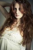 Fashion portrait  beautiful redheaded woman Royalty Free Stock Images