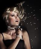 Fashion portrait of a beautiful seductive woman Stock Photography