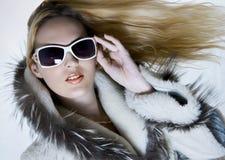 Fashion portrait of beautiful woman Stock Photos