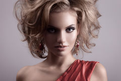 Fashion Portrait Of Beautiful Woman. Royalty Free Stock Images