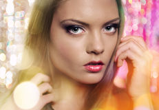 Fashion portrait of beautiful young female Royalty Free Stock Image