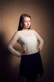 Fashion portrait of beautiful young girl Royalty Free Stock Photography