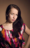 Fashion portrait of beautiful young girl Stock Photography