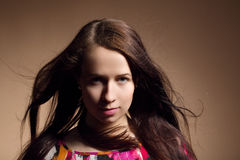 Fashion portrait of beautiful young girl Royalty Free Stock Photo