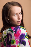 Fashion portrait of beautiful young girl Royalty Free Stock Photos