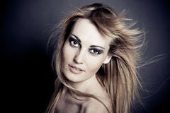 Fashion Portrait of a beautiful young sexy woman Royalty Free Stock Images
