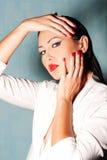 Fashion portrait of beautiful young woman Stock Photography