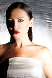 Fashion portrait of beautiful young woman Royalty Free Stock Photo