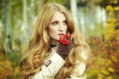 Fashion portrait of a beautiful young woman Stock Photos