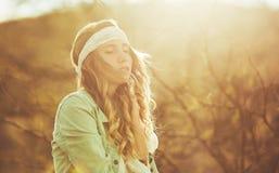 Fashion Portrait of Beautiful Young Woman Stock Photos