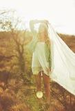 Fashion Portrait of Beautiful Young Woman Stock Image