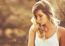 Fashion Portrait of Beautiful Young Woman Royalty Free Stock Images