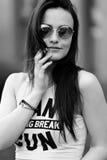 Fashion portrait black and white. Fashion portrait  of beautiful girl black and white Stock Photo