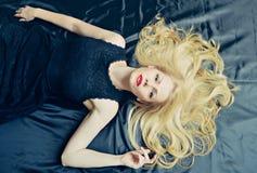 Fashion portrait of blond woman Stock Photo