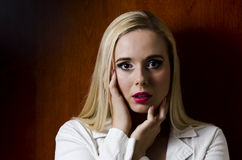 Fashion portrait of a blonde woman Royalty Free Stock Photo