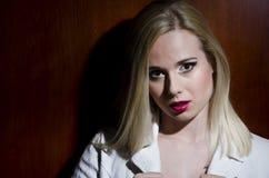 Fashion portrait of a blonde woman Stock Photos
