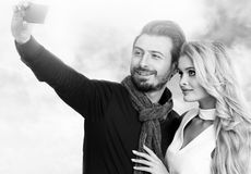 Fashion portrait of  couple Royalty Free Stock Photography