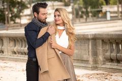Fashion portrait of  couple Stock Photo