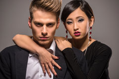 Fashion portrait of a couple Royalty Free Stock Photos