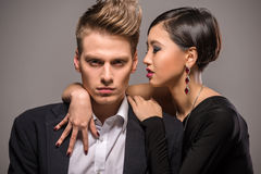 Fashion portrait of a couple Royalty Free Stock Images