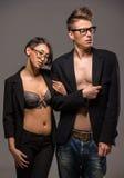 Fashion portrait of a couple Stock Image