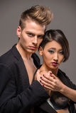 Fashion portrait of a couple Stock Photography