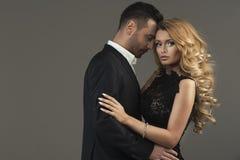 Fashion portrait of  couple Royalty Free Stock Image