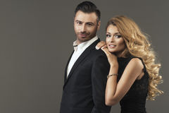 Fashion portrait of  couple Royalty Free Stock Images
