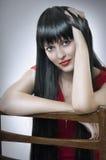 Fashion portrait of cute brunette woman. Royalty Free Stock Photo