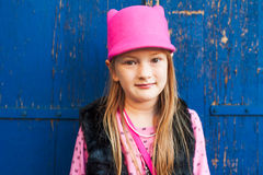 Fashion portrait of a cute little girl Royalty Free Stock Photography