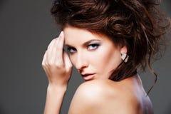 Fashion portrait of elegant woman Royalty Free Stock Images