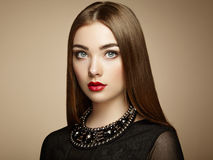 Fashion portrait of elegant woman with magnificent hair. Blonde girl. Perfect make-up stock photos
