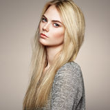 Fashion portrait of elegant woman with magnificent hair Stock Image