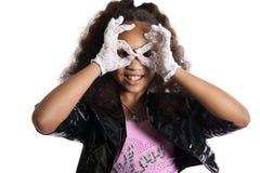 Fashion portrait of girl child. Sunglasses. Royalty Free Stock Photos