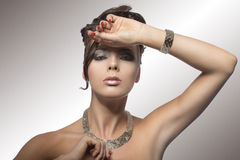 Fashion portrait of girl with hairstyle Royalty Free Stock Photography