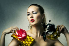 Fashion portrait of glamour woman Royalty Free Stock Images