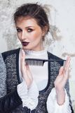 Fashion portrait. Hairstyling concept. Royalty Free Stock Photo