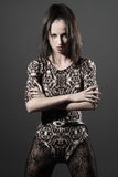 Fashion portrait with hands Stock Photos