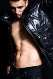 Fashion portrait of handsome lean man. Fashion portrait of handsome lean young man royalty free stock image