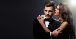 Fashion portrait of  lovers Stock Image