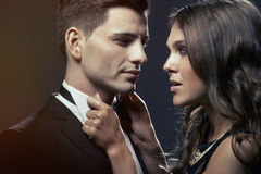 Fashion portrait of  lovers Stock Photography